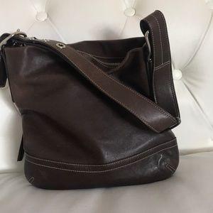 Coach1415 Chestnut Leather Convertible Slim Duffle